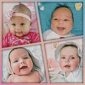 Collage Kleinkinderen patroon
