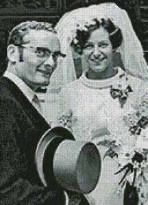 Pa en Ma zwart wit patroon
