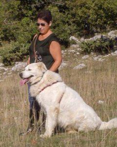 Portret met Hond bewerkte foto