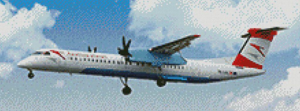 Vliegtuig patroon foto borduren