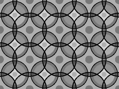 Cirkelpatroon v voorbeeld