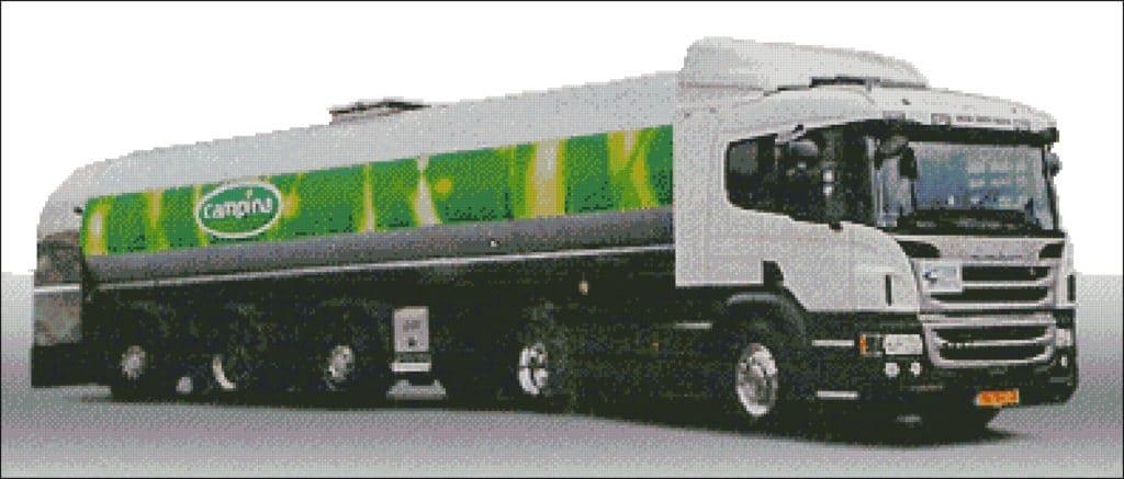 vrachtwagen campina patroon